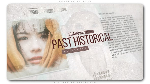 Videohive Shadows of Past Historical Slideshow 23146999
