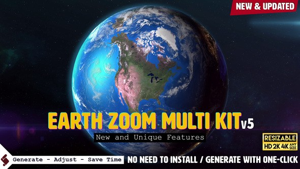 Videohive Earth Zoom Multi Kit V5 7962581