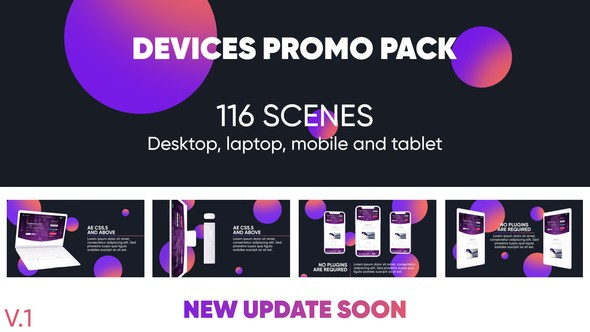 Videohive Devices Website Promo Pack 22833083