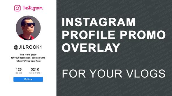 Videohive Instagram Profile Promo Overlay 23286857