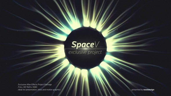 Videohive The SpaceV Titles 22434280