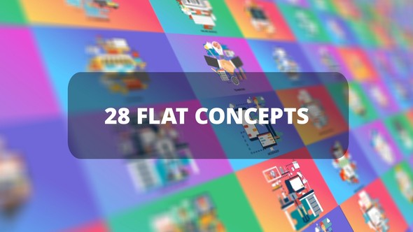 Videohive Bundle Business Flat Concepts 23312153