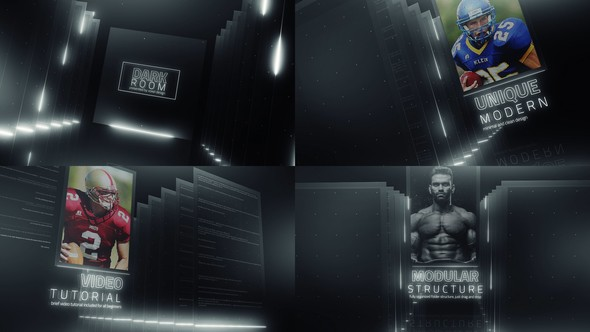 Videohive Dark Room Sports Cinematic Titles 23201710