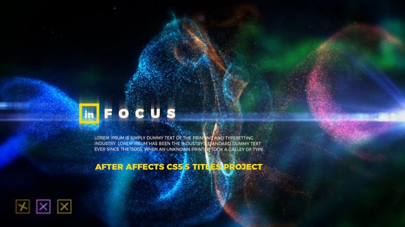 Videohive In Focus - Particle Titles 23243653