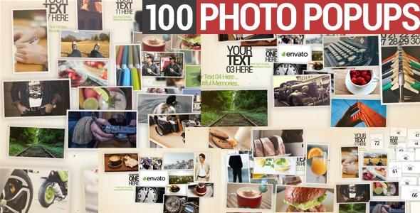 Videohive 100 Photo Popups 9960121