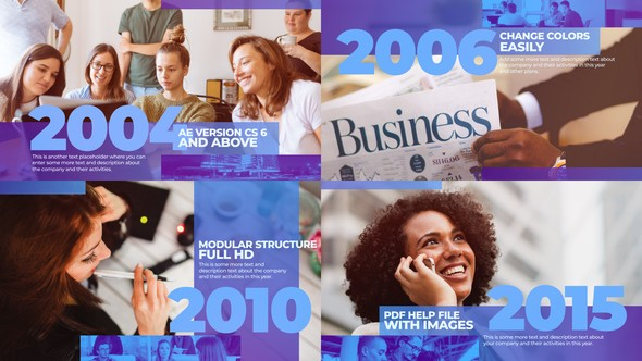 Videohive Corporate History Timeline 23321049