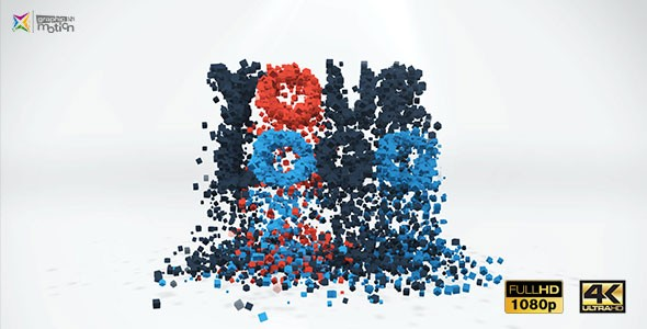 Videohive 3D Particles Logo Build & Break 19397614