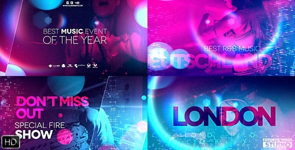 Videohive Ultraviolet Music Party 20846950