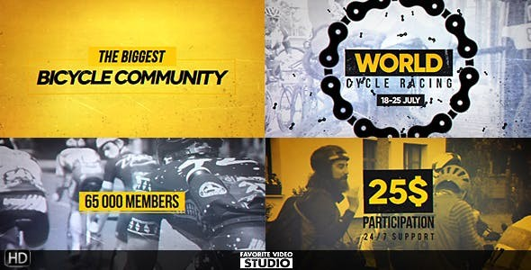 Videohive World Cycling Marathon Pack 20086604