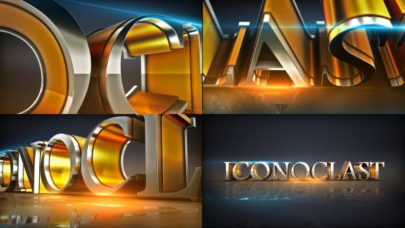 Videohive Shiny Element Text Logo Opener 18337552
