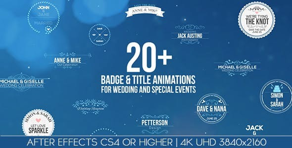 Videohive Badges / Title Animations For Wedding And Special Events 14686685