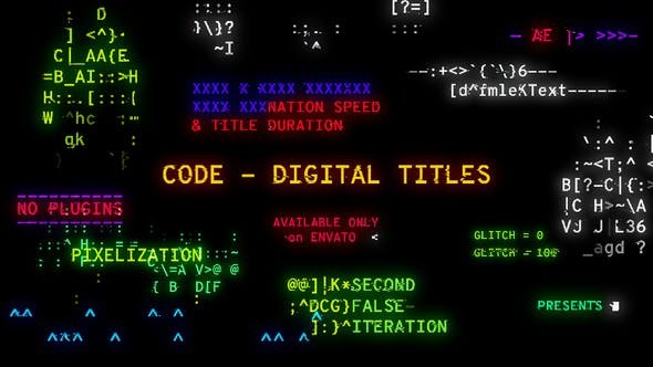 Videohive Code - Digital Titles 22939244