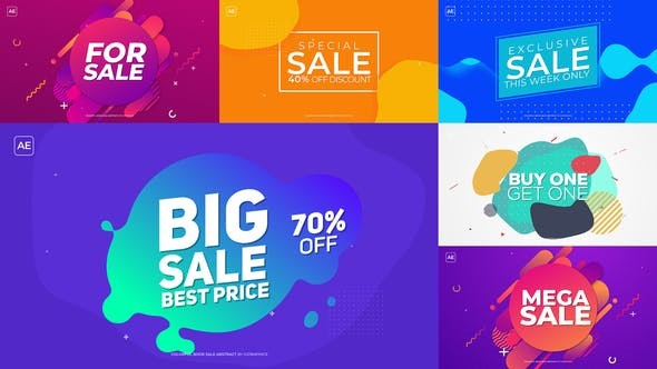 Videohive Colorful Book Sale Abstract 22548235