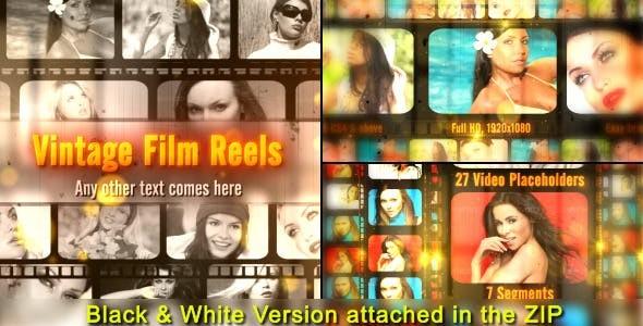 Videohive Vintage Film Reels 7512126