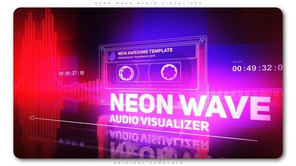 Videohive Neon Wave Audio Visualizer 23173515