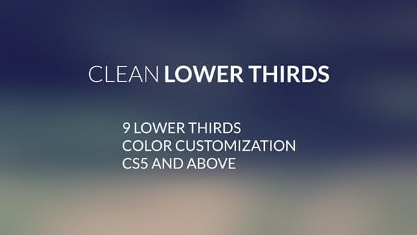 Videohive Clean LowerThirds 12874111