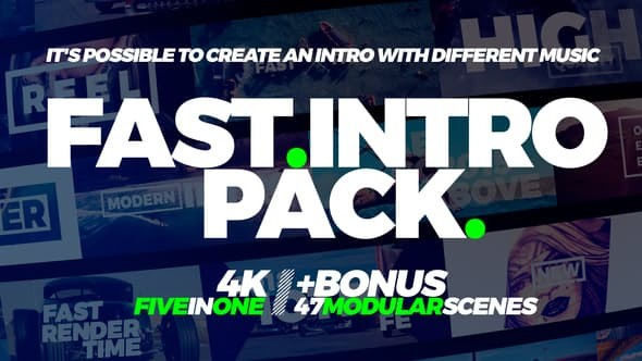 Videohive Fast Intro Pack 5in1 22008950