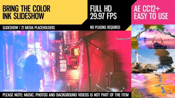 Videohive Bring the Color (Ink Slideshow) 23350186