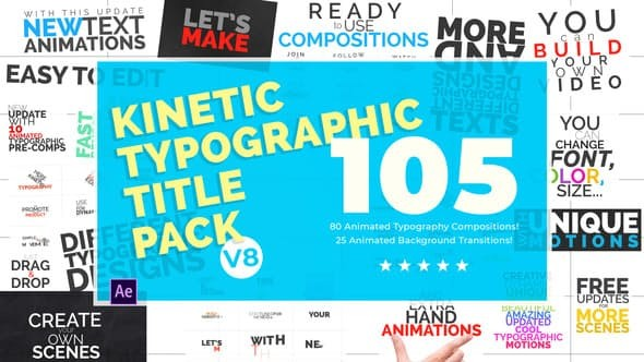 Videohive Kinetic Typographic Title Pack 7224203
