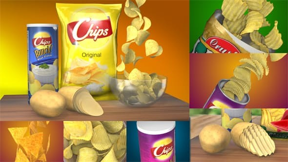 Videohive 3D Chips Commercial 20849125