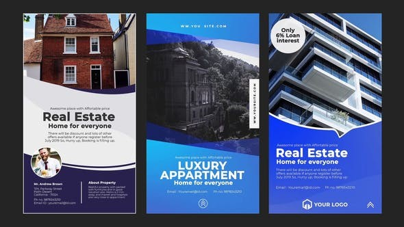 Videohive Real Estate Instagram Stories 23403280