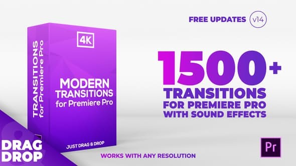 Videohive Modern Transitions | For Premiere PRO 21922312 - V14