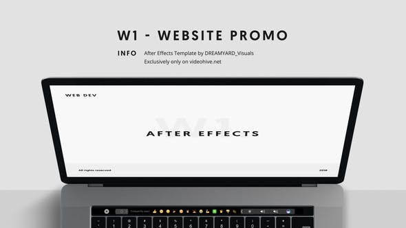 Videohive W1 - Website Promo 23381284