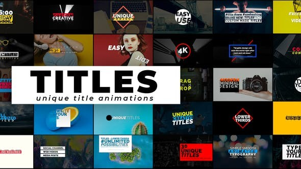 Videohive Creative Titles - Auto Resizing Titles And Lower Thirds 21233698