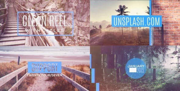 Videohive Photo Reel With Titles 14640426