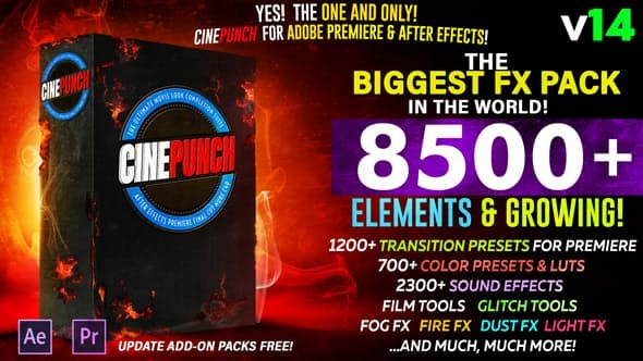Videohive CINEPUNCH - The Biggest FX Pack in the World! V.14 20601772