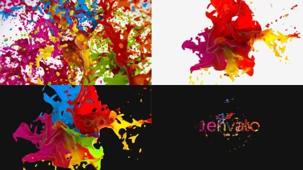 Videohive Liquid Paint Splash Logo 20870967