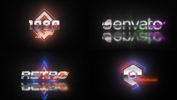 Videohive Retro Wave Logo 22861180