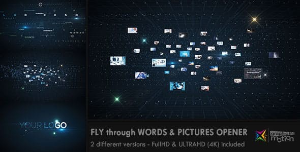 Videohive Fly through Words & Images Opener 11918540
