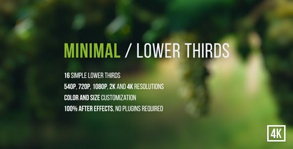 Videohive Minimal / Lower Thirds 13185541
