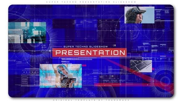 Videohive Super Techno Presentation Slideshow 22716022