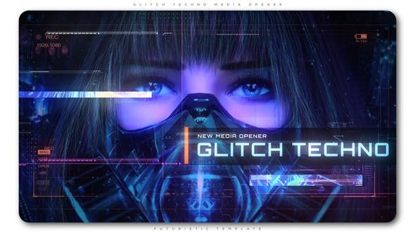 Videohive Glitch Techno Media Opener 22371310