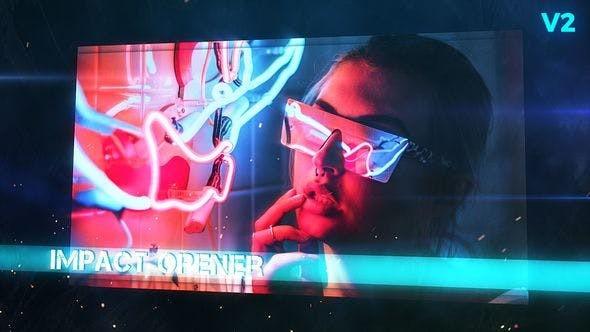 Videohive Grunge Impact Screens 7654918
