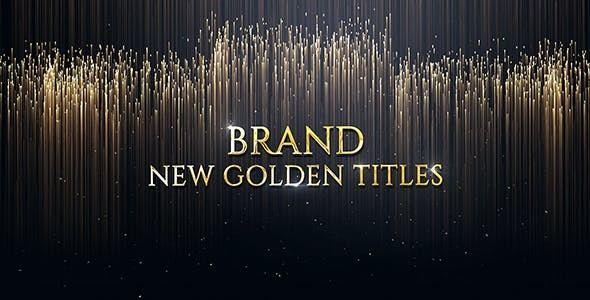 Videohive Luxury Golden Titles 20246813