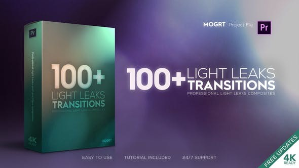 Videohive Light Leaks Transitions | MOGRT 23482683