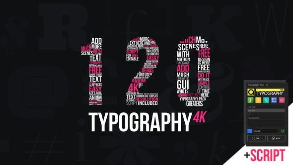 Videohive Kinetic Typography 4K Package | Typography Tool 22463552