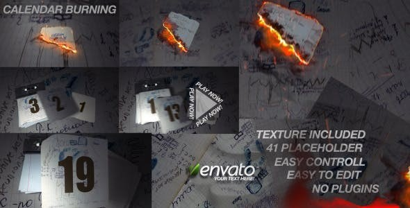 Videohive Calendar Burn 3892219