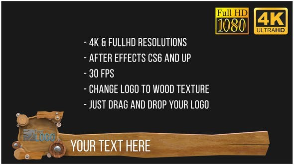 Videohive Wooden Lowerthirds (After FX) 23462229