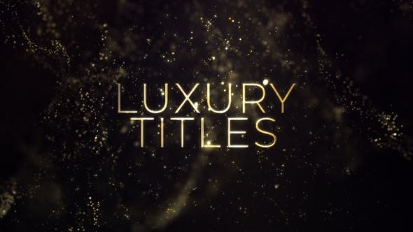 Videohive Luxury Gold Titles 23472518