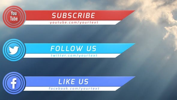 Videohive Social Media Lower Thirds 7706492
