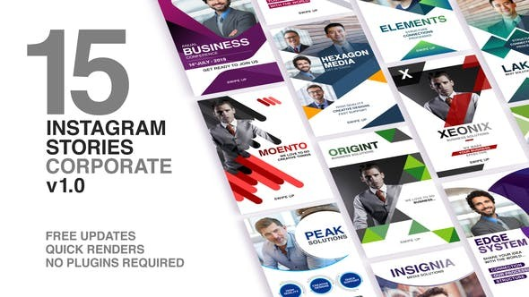 Videohive Instagram Stories - Corporate 23501291