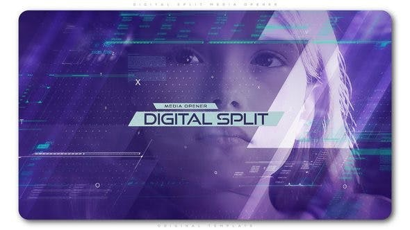 Videohive Digital Split Media Opener 22457599