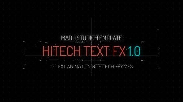 Videohive Hitech Text FX 23384962