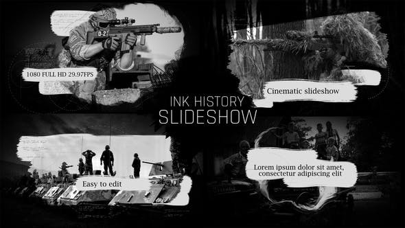 Videohive Ink History Slideshow 22396142