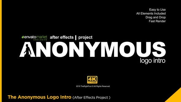 Videohive The Anonymous Logo 23579534