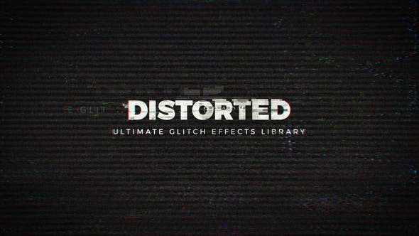 Videohive Distorted - Ultimate Glitch Effects Library 22461986